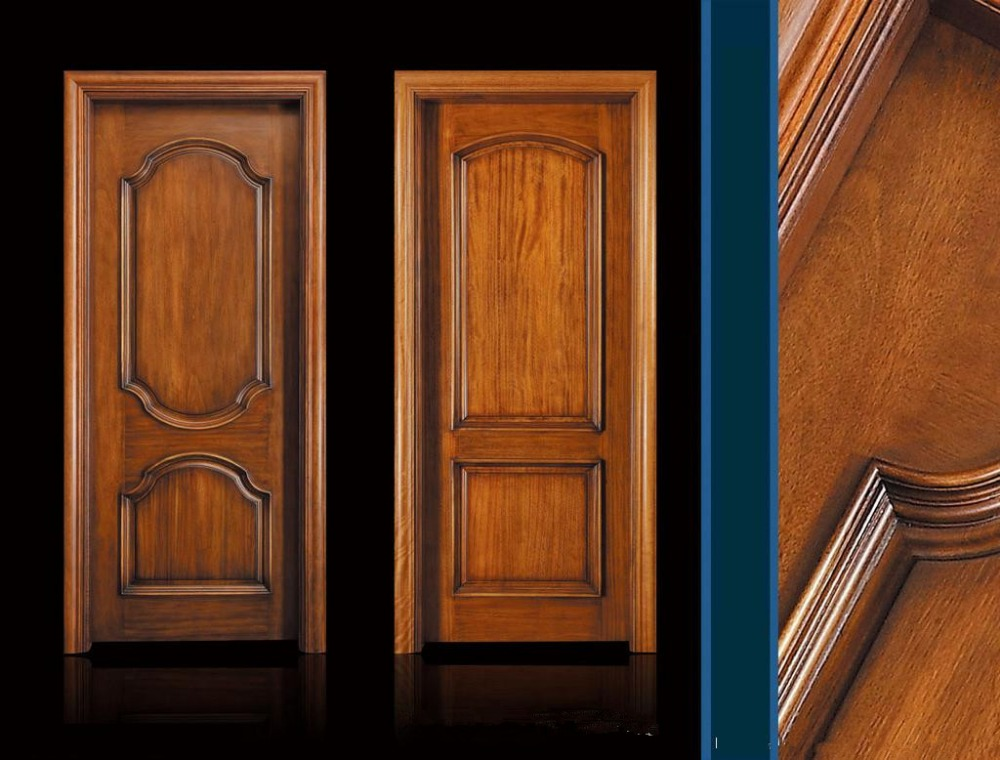 China Interior Solid Wooden Doors / Solid door Veneer Door WD006 ...
