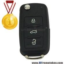 Флип автомобиль дистанционного ключа для VW Volkswagen Beetle Golf Eos Поло Sharan 2011 2012 2013 3 кнопка 5K0 837 202 AD ID48 434 МГц remtekey