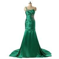 2019 Изумрудное вечернее платье платья блестящие вечерние платья на одно плечо нарядные платья для женщин Vestidos Para Bodas Largos