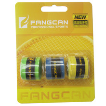 1pack FANGCAN PU Grip Sticky Overgrip Glossy Film Overgrips for Badminton Tennis Racket at Random Color 3 pcs/pack(China)