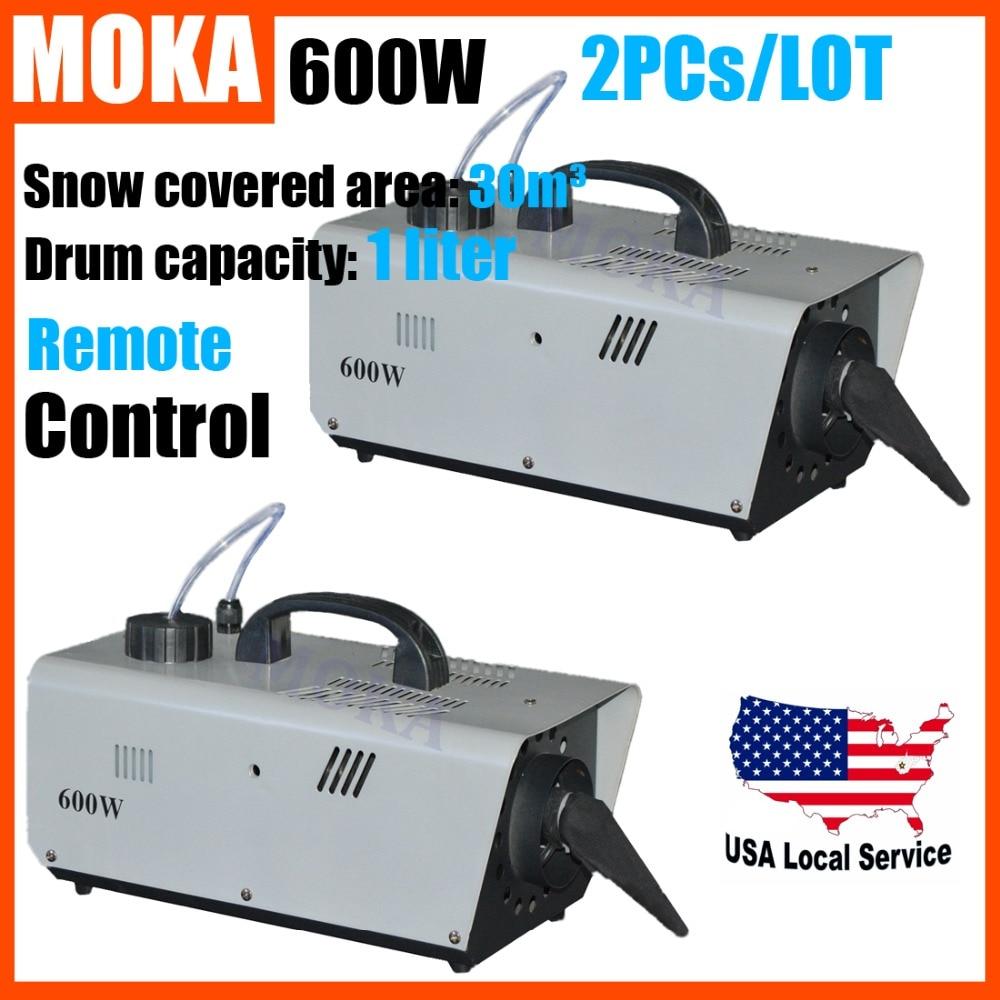 2 pcs/lot  mini 600W Snow Machine remote control DMX512 snow maker machine Stage FX christmas decorations for home  недорого