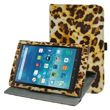 360 Degree Rotary Rotating Leather Cute Case Cover For 8″Amazon Fire HD 8 2016 Tablet