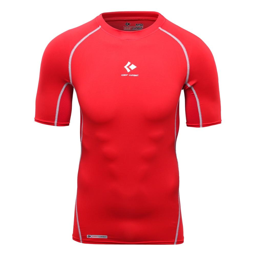 Cody Lundin Four Needles Six Lines Technolog Tight T-Shirt Men Bodybuilding Compression Shirt Men Crossfit Gasp T Shirt Red
