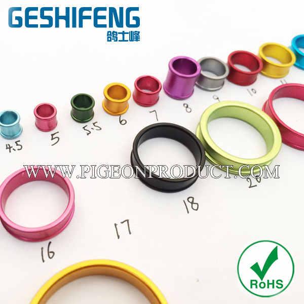 free shipping 2019 black aluminium ring 5.5mm