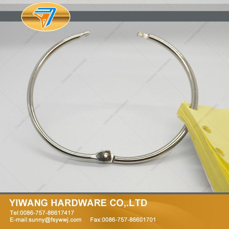 venda quente direta da fabrica de niquel chapeamento notebook anel 10 pces escritorio binder anel atacado
