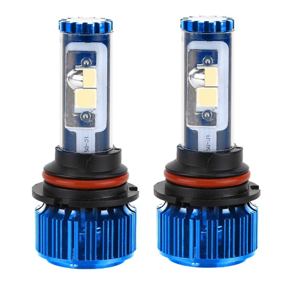 2016 NEW 9007 Hi/Lo Beam 60W 5000LM COB Chip LED Headlight Conversion KIT 2 Colors DIY Automobiles Headlamp