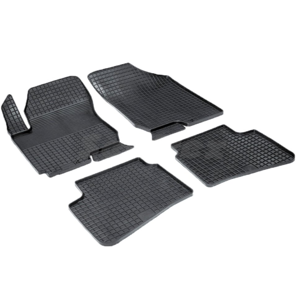 Rubber grid floor mats for Kia Ceed 2007 2008 2009 2010 2011 Seintex 00451 rubber grid floor mats for honda accord viii 2008 2009 2010 2011 2012 seintex 00758