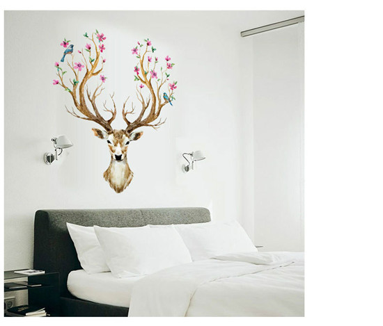 2017 for wall cartoon promotion deer wall stickers animal for 3d wallpaper for living room malaysia