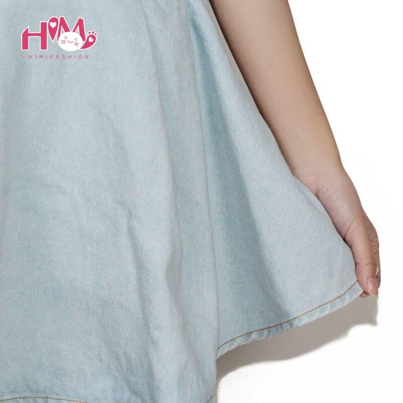 Vivi Japan Sstrap School Denim Dress For Ladies Dark Blue Removable Summer Detachable Student Overalls Dress Women Kawaii Clothes 6