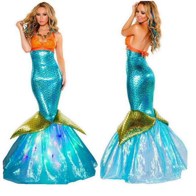 US $24 76 28% OFF|Hot Sale New Mermaid Costume Mermaid MERMAID DRESS Fairy  Tale Characters As Fashion Cosplay Sexy Dress-in Sexy Costumes from Novelty