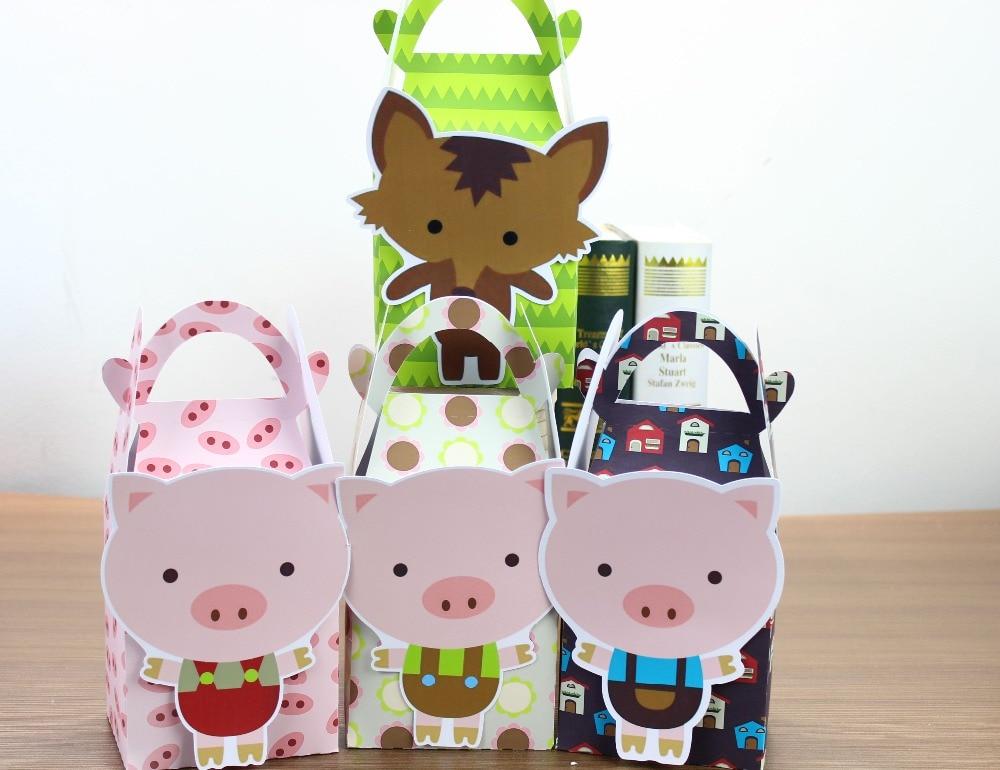 Farm Animal Fête Aliments Boîtes-Cadeaux Faveur Anniversaire Filles Garçons Amis