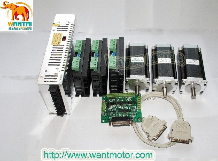 Www.wantmotor.com Nema 23 шаговый двигатель 425oz-in 3 оси ЧПУ и драйвер с пиковым током 4.2A, 128 микрошаговый режим управления