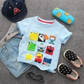 boys shirts cartoon pattern kids summer wear short sleeve o-neck super breathable cotton new arrival fashion style for 3-10 days
