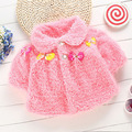 Mezcla de algodón Cozy Espesar Capa Poncho Infantil Del Niño Del Bebé Recién Nacido Niñas Abrigo de Invierno 0-12 M