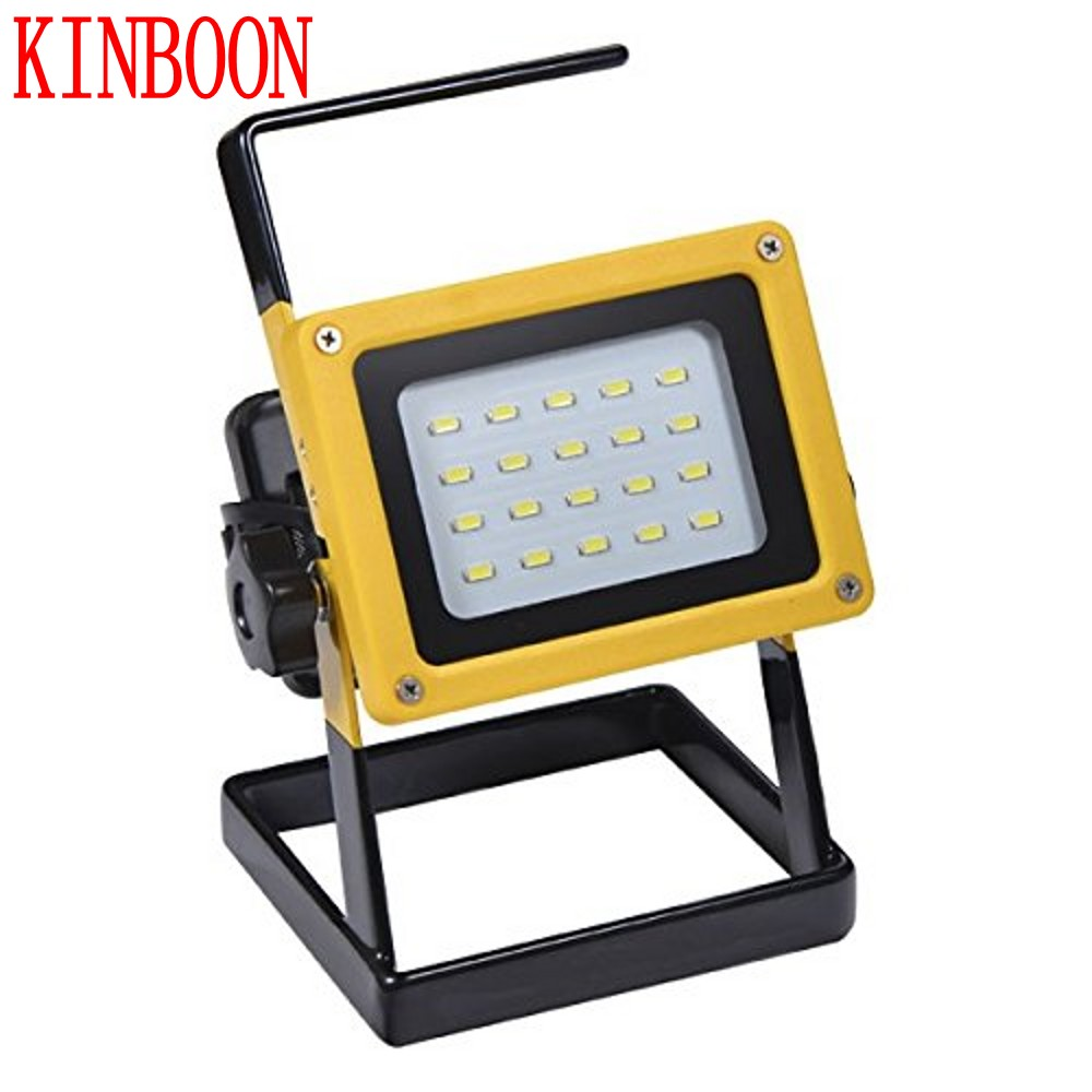 New Portable Spotlight Rechargeable LED Floodlight Movable Outdoor Camping Light 20 led with 3*18650 Batteries Power+AC Charger