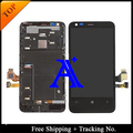 Free Shipping 100% tested  Original For Nokia 620 LCD  lumia N620 LCD Display Screen Digitizer Assemlby With Frame - Black