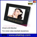 9 Inch LCD Touch Monitor For Video Door Bell Door Phone HD Screen Volume Brightness Contrast Adjustable