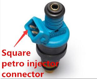 Square petro injector connector