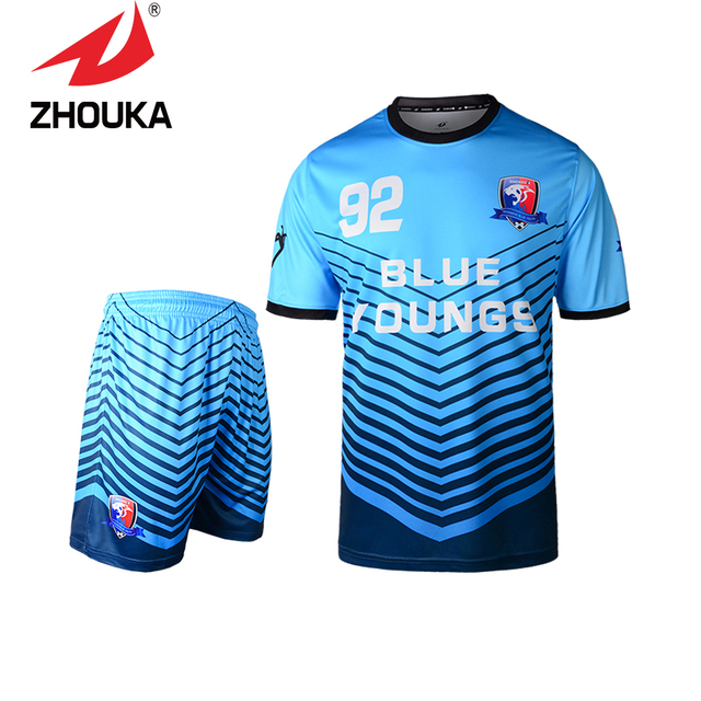 100 Polyester Best Quality 2016 New Football Uniforms Soccer Jersey Custom Hot