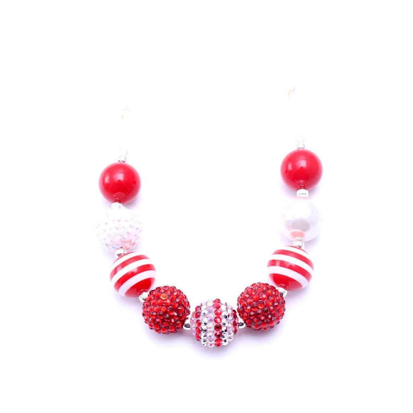 MHS. SOL vermelho Por Atacado bonito colar de corda crianças gumball bubblegum contas de colar pedaços para crianças decoração bebê 2 pcs BN051