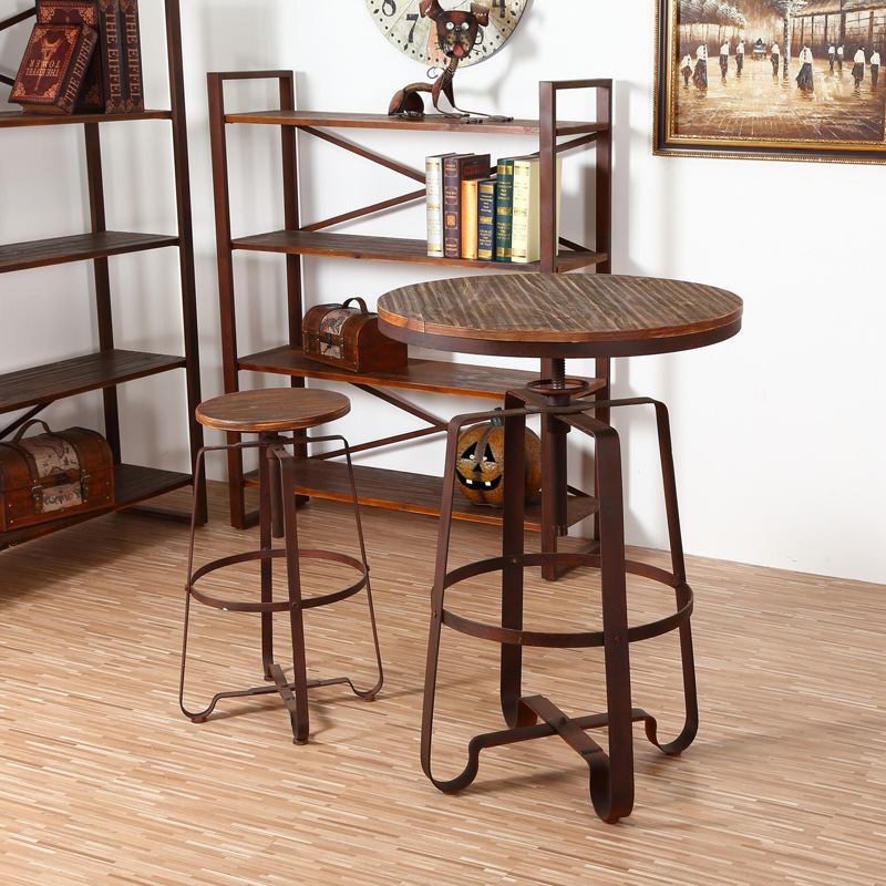 antique style barstools and tables lifting support garden and outdoor furniture for restaurant