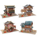 Cubic Fun 3D Puzzle DIY House China Feature Paper Models, Assembly Puzzle 3D China Flavor Toys For Collection Christmas Gifts