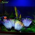 Decoration coral 6 color Aquarium Fish tank Ornament Decor Aqua luminous fluorescent coralacuarios for accessories peceras