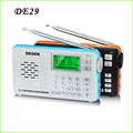 Hot Degen DE29 FM Radio Digital Tuning Full Band Card Receiver Campus Portable Radio Wholesale Dropshopping Y4217A