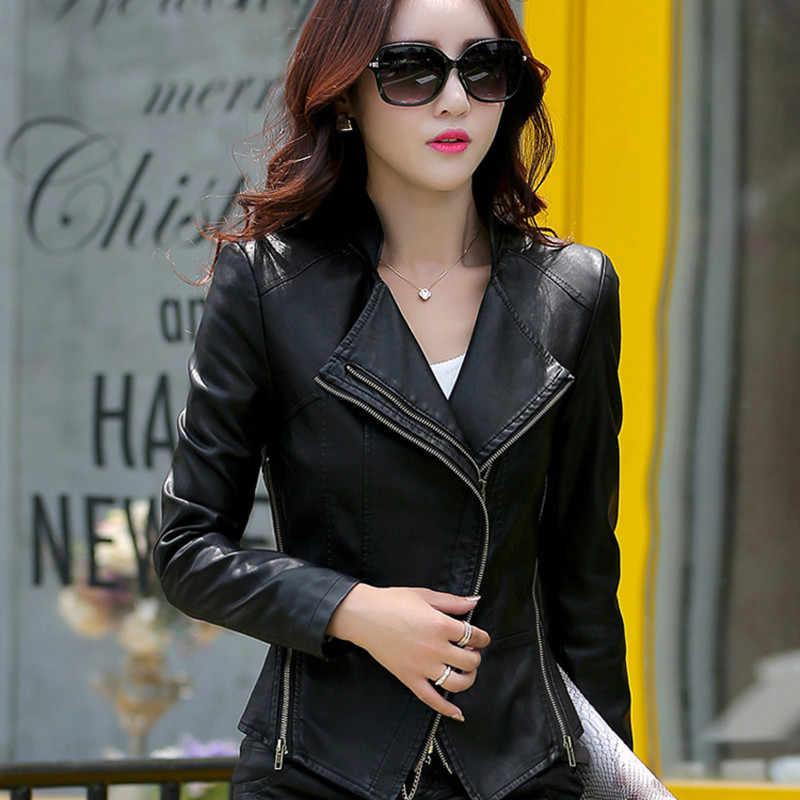 2020 女性のファッションコートジャケット春秋の新到着ショートスリムカジュアルスタイル羊革ジャケットプラスサイズ WUJ0084