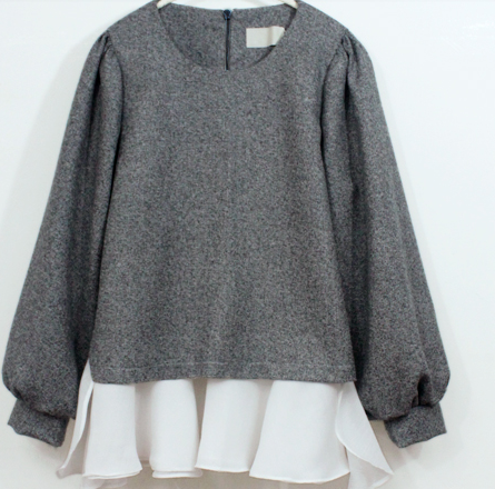 High quality 2017 spring and autumn pregnant women long sleeve o-neck woolen coat plus size lantern sleeve back zipper fly coat