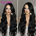 180% Density Full Lace Wig 100 Virgin hair Brazilian Hand Tied Full Lace Glueless Wigs Baby Hair Around Long Loose Body Wave Wig