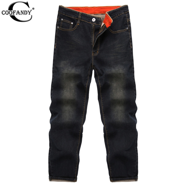 COOFANDY New Men Fashion Mid Waist Zip Fly 5 Pockets Regular Fit Jeans Denim Black Blue Slim Straight Washed Mens Jeans