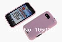 1 пк матирование тпу гель кожи чехол и 1 пк кристалл экран протектор для моторола mb525 / me525 вызов мобильный телефон