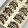 2016 Nova Grosso Cílios Postiços Cílios 1 Caixa de 10 pares de Alta Qualidade máquina de Fumaça Fase Maquiagem Cílios Postiços Cílios Postiços Grossas