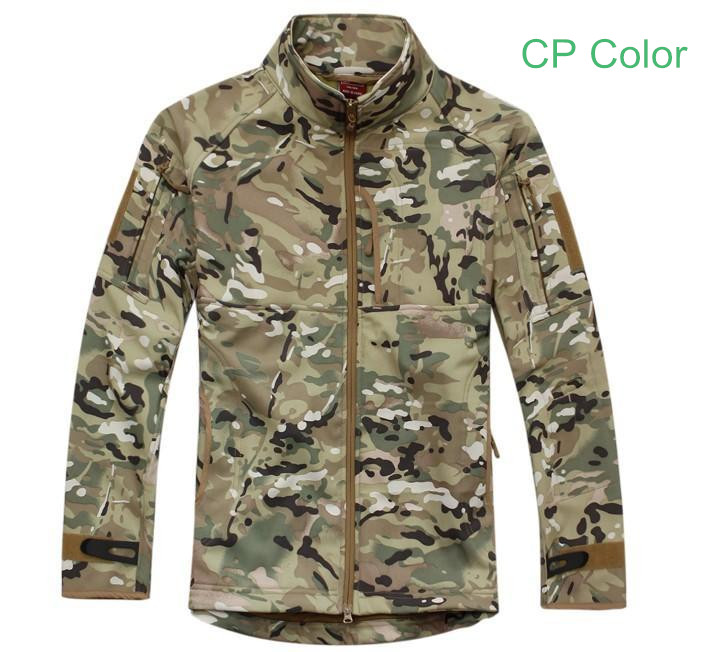 Outdoor CP Multicam Breathable Softshell Jacket Men's Tactical Hunting Waterproof Windproof Jacket Soft shell with Fleece Lining outdoor female hiking soft shell jacket suits with soft shell fleece pant sport waterproof breathable warm fleece rain jacket