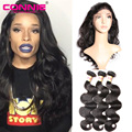 360 Lace Frontal With Bundle Pre Plucked 8A Brazilian Virgin Hair Body Wave Human Hair Natural Hairline 360 Lace Frontal Closure