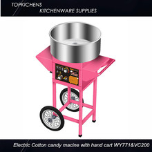 Electric cotton candy machine cotton floss machine with Trolley WY-771&VC-200