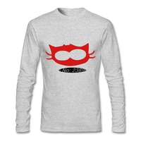 Erkek t-shirt lüks marka komik cat yüz rahat tshirt yeni tasarım uzun kollu adam t-shirt xs, s, m, l, xl, 2xl
