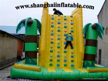 good quality PVC large inflatable climing wall for sports or entertainment