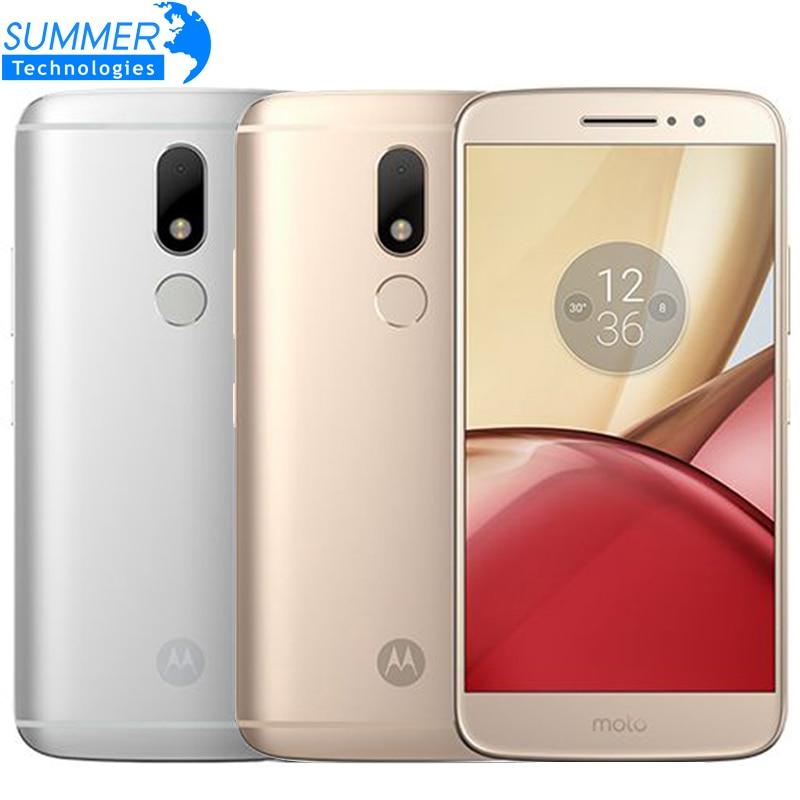"Original Motorola Moto M XT1662 Mobile Phone 4G LTE MTK Helio P15 Android 6.0 Octa Core 5.5"" 4G RAM 32G ROM 16.0 PM Smartphone"
