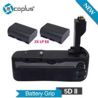 Meike MK 5DII Vertical Battery Grip With 2pcs LP E6 Batteries For Canon EOS 5D Mark