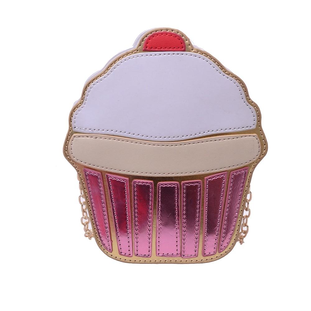 las mujeres del bolso multicolor lindo helado patrn patchwork hombro crossbody bolsa de mensajero de cuero