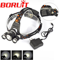 3x XM-L XML L2 LED 8000Lm 4 Mode Rechargeable Headlamp Headlight Head lamp linterna frontal linterna cabeza + AC Charger