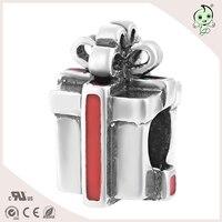 קופסא מתנה מסתורי אמייל תכשיטים לצמיד ושרשרת קסם כסף סטרלינג S925