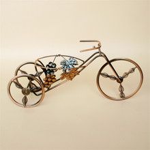 Tricycle Wine Holder metal wine rack iron vintage wine rack elegant retro home decorations barware European Craft ornaments gold