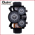 HP1167 Brand Oulm Men Watch Wristwatch For Men High Quality Quartz Watch New With Tags Buckle Leather Fast Shipping