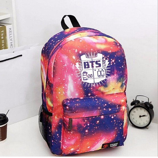 Universal Waterproof Backpack with Space Pattern