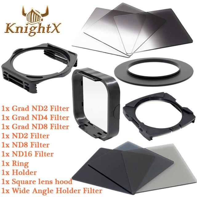 KnightX ND окончил цвет Комплект Фильтров Для Cokin P для Nikon Canon D3300 D3200 Цифровой Зеркальный Фотоаппарат Pentax Объектив 52 мм 58 мм 67 мм 72 77 82 ММ