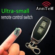 Dünyanın en küçük Kablosuz uzaktan kumanda anahtarı 3.7 v lityum pil Güç kontrolörü uzaktan kumanda ON/OFF Minyatür modülü
