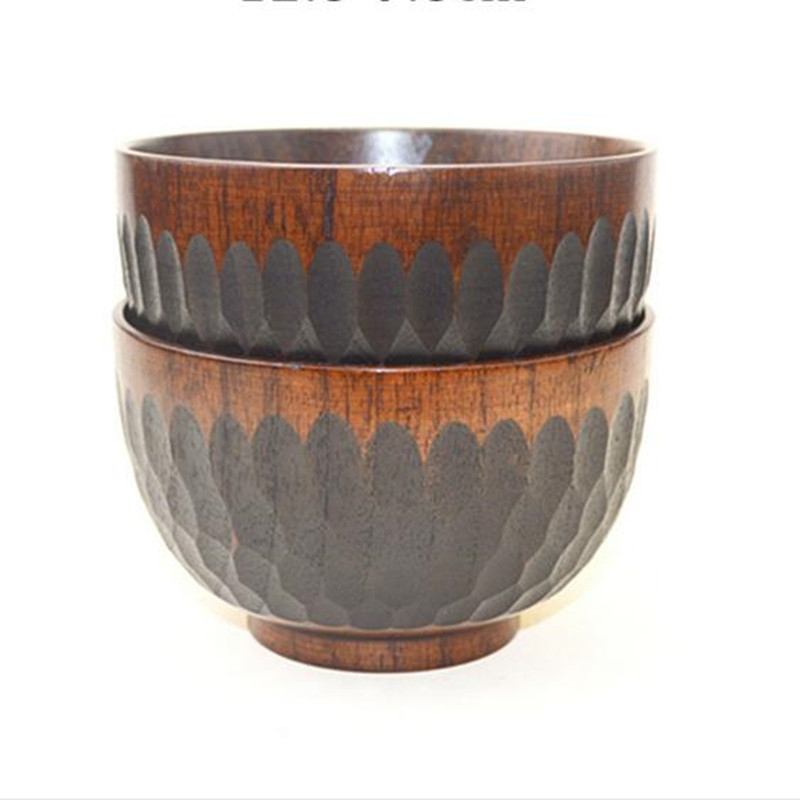 hand carved wooden bowl japanese style kitchen tool natural high quality wooden bowl